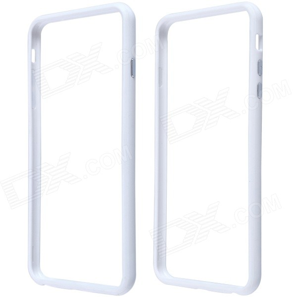 Protective Plastic Bumper Frame Case for IPHONE 6 Plus - White аксессуар защитное стекло samsung galaxy j2 prime brosco 0 3mm ss j2p sp glass