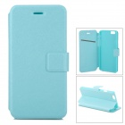 Flip-Open Protective PU Leather Full Body Case with Stand for IPHONE 6 - Green