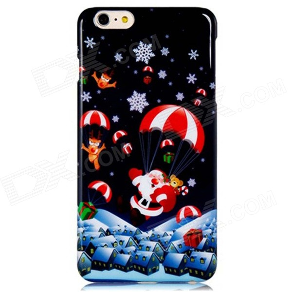 Santa Claus & Parachute Pattern PC Hard Back Case for 5.5'' IPHONE 6 Plus - Dark Blue + Red mercury goospery blue moon magnetic leather case for iphone 6s plus 6 plus dark blue