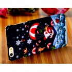 Santa Claus & Parachute Pattern PC Hard Back Case for 5.5'' IPHONE 6 Plus - Dark Blue + Red
