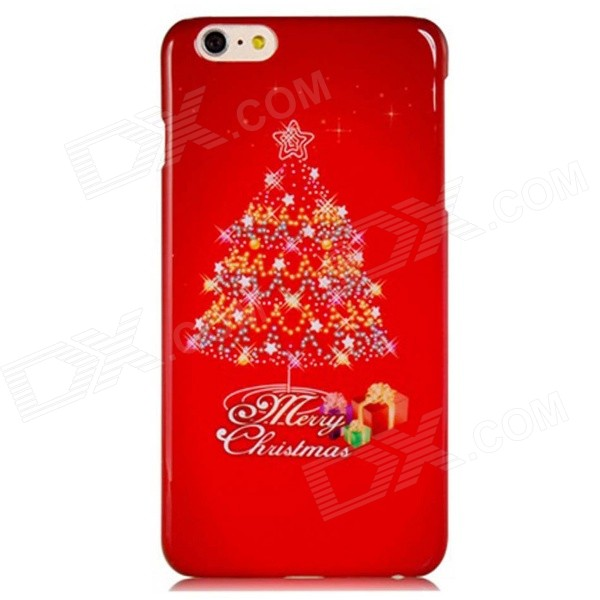 Christmas Tree Pattern PC Hard Back Cover Case for 5.5'' IPHONE 6 Plus - Red sweet bowknot pattern hard back cover pc case for iphone 6 translucent pink