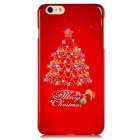 Christmas Tree Pattern PC Hard Back Cover Case for 5.5'' IPHONE 6 Plus - Red