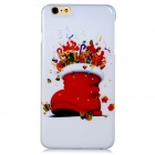 Christmas Gifts Stockings Pattern PC Hard Back Cover Case for 5.5'' IPHONE 6 Plus - White + Red