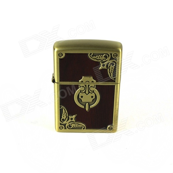 Door Knocker Pattern Retro Style Kerosene Lighter - Brown + Bronze