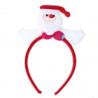 Santa Claus Christmas Decorations Head Buckle w/ LED Light - White + Red