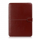 "Protective PU Leather Flip Open Case for 13.3"" MACBOOK AIR - Brown"