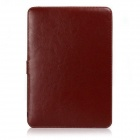 "Protetora de couro PU flip aberto Case for 13.3 ""MACBOOK Ar - Brown"
