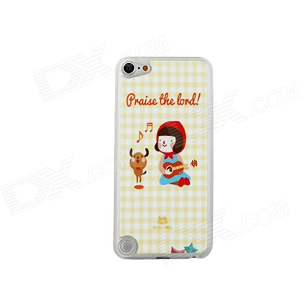 Cute Cartoon Pattern Thin PC Back Cover Case for IPOD TOUCH 5 - White + Red