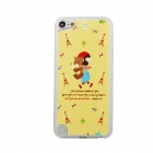 Girl & Bear Pattern Ultra Thin Protective PC Back Case Cover for IPOD TOUCH 5 - Yellow + Multicolor