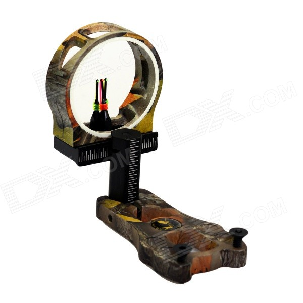 3-Pin Aviation Aluminum Bow Sight Scope - Yellow Camouflage