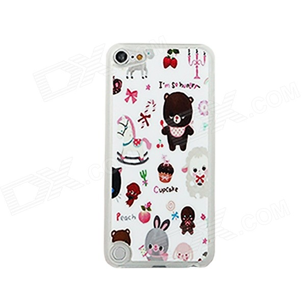 Lovely Cartoon Pattern Ultra-Thin Protective PC Back Case Cover for IPOD TOUCH 5 - Multicolored