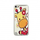 Cute Giraffe Pattern Ultra-thin Protective PC Back Case for IPOD TOUCH 5 - Red + Yellow