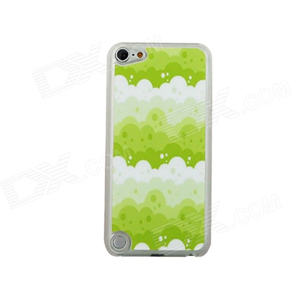 Bubbles Pattern Ultra-Thin Protective PC Back Case for IPOD TOUCH 5 - White + Green + Multicolor