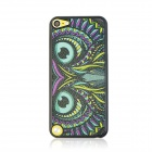 Owl Pattern Ultra-thin Protective PC Back Case for IPOD TOUCH 5 - Black + Green + Multicolored