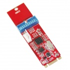 WBTUO NEC D720202 M.2 (NGFF) to 1-Port 19Pin USB3.0 Adapter Card for Desktop PC - Red