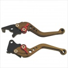 Blade Style Adjustable Motorcycle Brake Clutch Lever for Honda - Bronze + Black (2 PCS)