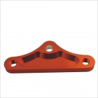 Triangle Shaped Aluminum Alloy Muffler Bracket for Motorcycle - Reddish Brown