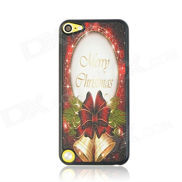 Christmas Bells Pattern Protective PC Back Case Cover for IPOD TOUCH 5 - White + Red + Multicolor