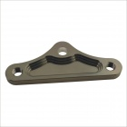 Triangle Shaped Aluminum Alloy Muffler Bracket for Motorcycle - Silver Gray