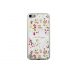 Flowers Pattern Ultra-thin Protective PC Back Case for IPOD TOUCH 5 - White + Pink