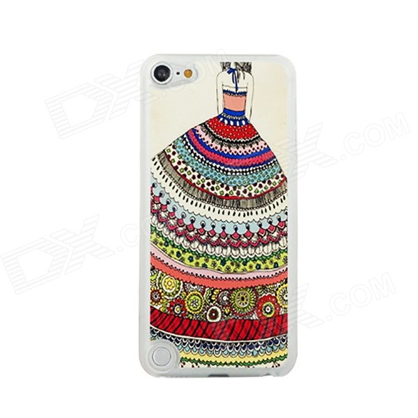 Tribal Dress Girl Pattern Thin PC Back Cover Case for IPOD TOUCH 5 - Multicolored