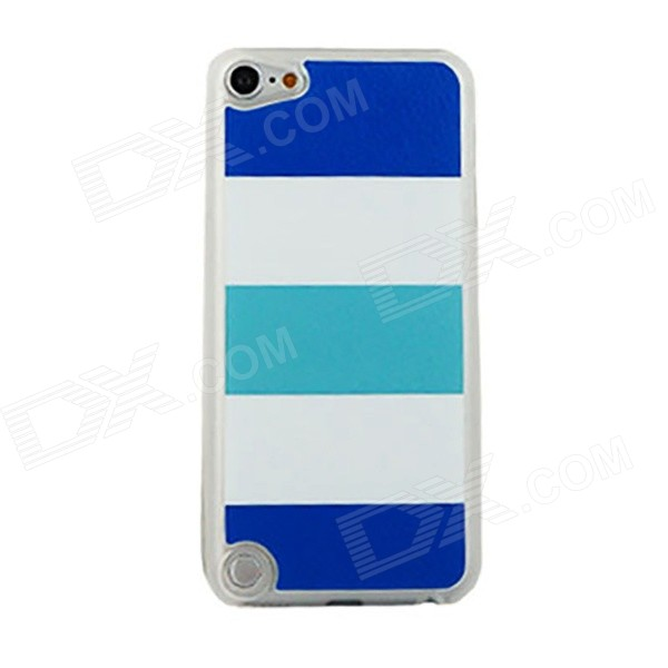 Navy Stripe Pattern PC Back Cover Case for IPOD TOUCH 5 - White