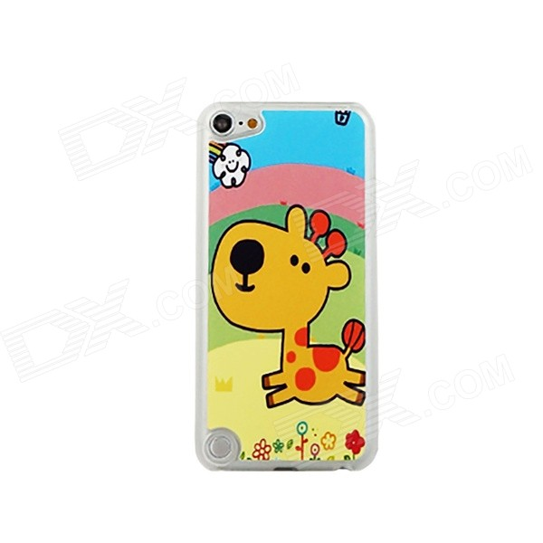 Running Deer Pattern Ultra-thin Protective PC Back Case for IPOD TOUCH 5 - Yellow + Multicolored