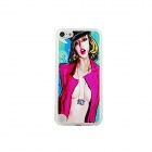 Sexy Girl Pattern Ultra-thin Protective PC Back Case for IPOD TOUCH 5 - Black + Red + Green