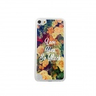 Large Flowers Pattern Ultra-thin Protective PC Back Case for IPOD TOUCH 5 - Yellow + Multicolored
