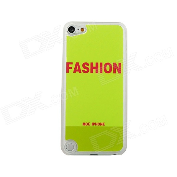 Fashion Letters Pattern Ultra-thin Protective PC Back Case for IPOD TOUCH 5 - Green + Red