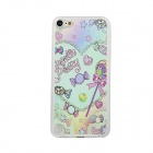 Lovely Candys Pattern Ultra-Thin Protective PC Back Case Cover for IPOD TOUCH 5 - Pink + Multicolor