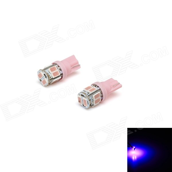 T10 3W 150lm 10-SMD 5730 LED rosa Car Light Largura Lamp / Matrícula / Luz interior (12V)