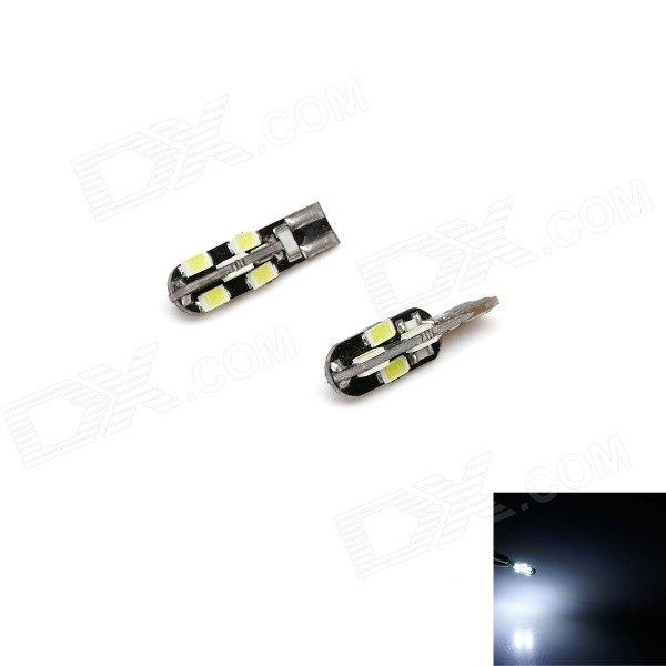 T10 3W 410lm 6000K 12-SMD 5730 LED White Light Car Bredde lampe-svart (12V / 2 STK)