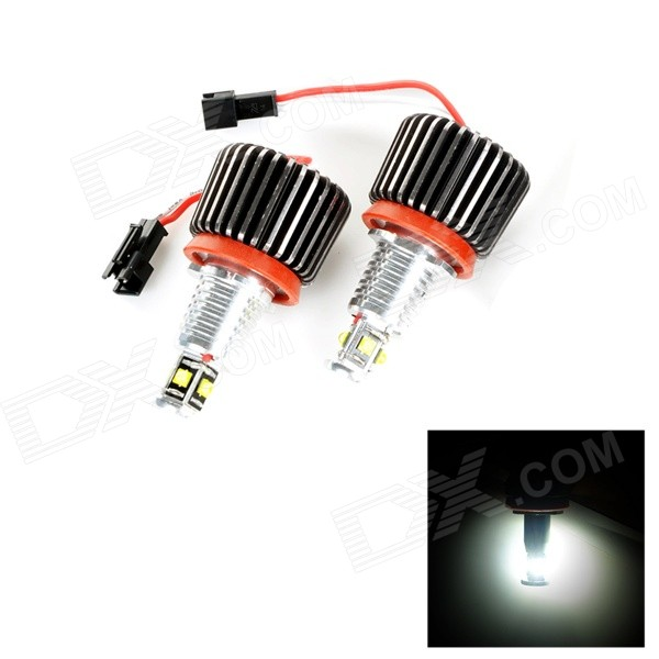H8 32W 1500lm 4-LED White Car Angle Eyes Light for BMW E90, E91, E92, E93 (2 PCS) 2xcar styling car led sticker carbon fiber paper fender turn signal lamp for bmw e46 e82 e87 e88 e90 e91 e92 e60 e61 accessories