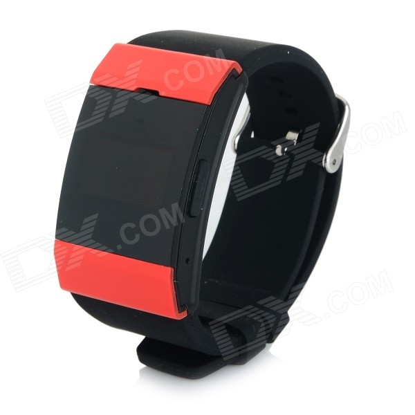 E5 Bluetooth V3.0 Bracelet Smart Watch w/ Call Reminder / Alarm Clock for Cellphone - Black + Red elephone w1 bluetooth v3 0 0 49 oled smart bracelet watch w call reminder stopwatch rose gold