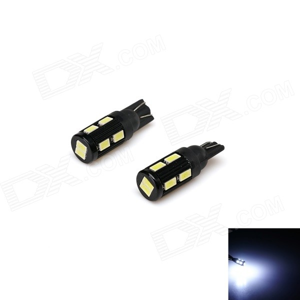 T10 5W 500lm 10-SMD 5730 LED White Light Car Width Lamp / License Plate / Door Lamp (12V / 2 PCS)