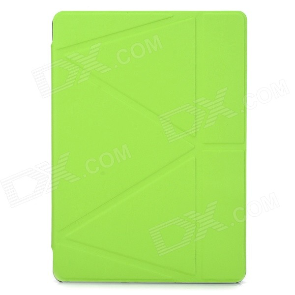 Protective PU Leather Flip-Open Smart Case w/ Stand for IPAD AIR - Green enkay jellyfish pattern protective pu leather smart case w stand for ipad air ipad 5 multicolor
