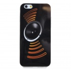 Stylish Horn Pattern Protective TPU Back Case Cover for IPHONE 6 - Black + Brown