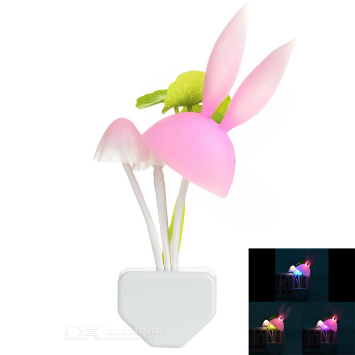 Light Control Energy Saving Mushroom Style 1W Night Lamp (110~220V)