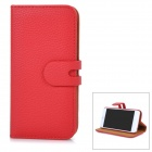 "Removable Magnetic Flip-Open Case w/ Stand / Card Slot for IPHONE 6 4.7"" - Red"