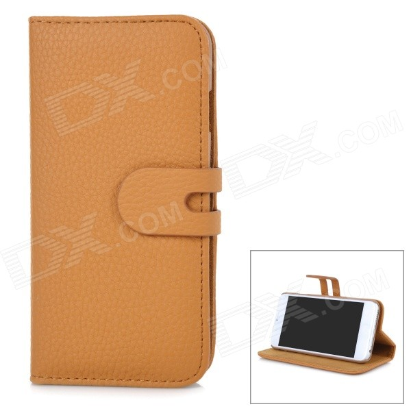 Removable Magnetic Flip-Open Case w/ Stand / Card Slot for IPHONE 6 4.7 - Blown high quality leather wallet style flip open case w card slots for iphone 6 plus brown