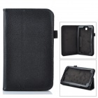 "Protective Flip-Open PU Case Cover w/ Stand for 7"" Samsung T110 Tablet PC - Black"