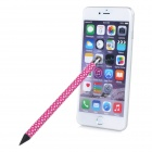 Polka Dot Pattern Capacitive Screen Stylus Touch Pen w/ Pencil for IPHONE / IPAD / IPOD - Deep Pink