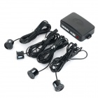 HF-620E Waterproof 4-Sensor Car Parking Sensor System - Black