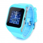 "UPad2 TPU Band Bluetooth V3.0 1.5"" Capacitive Screen Smart Watch w/ FM / Alarm - Light Blue + Black"