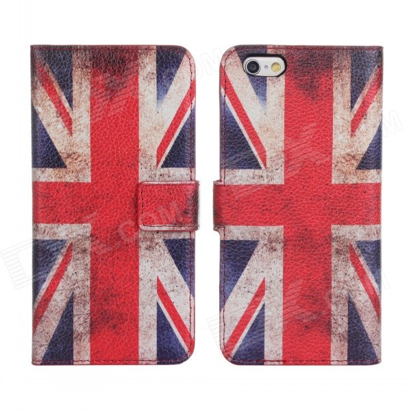 купить Stylish UK Flag Pattern Flip-open PU Leather + PC Case w/ Holder + Card Slot for IPHONE 6 PLUS 5.5
