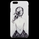 "Girl Pattern Thin PC Protective Back Cover Case for 4.7"" IPHONE 6 - White + Black"