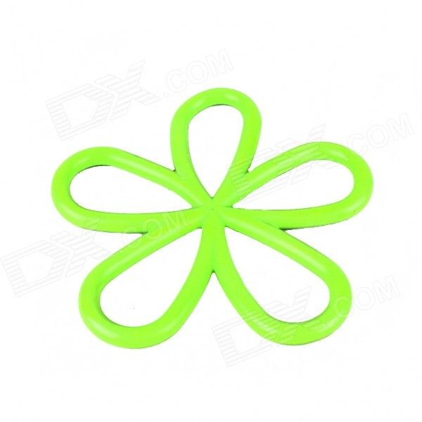 Flower Style Silicone Heat Insulation Pad - Green