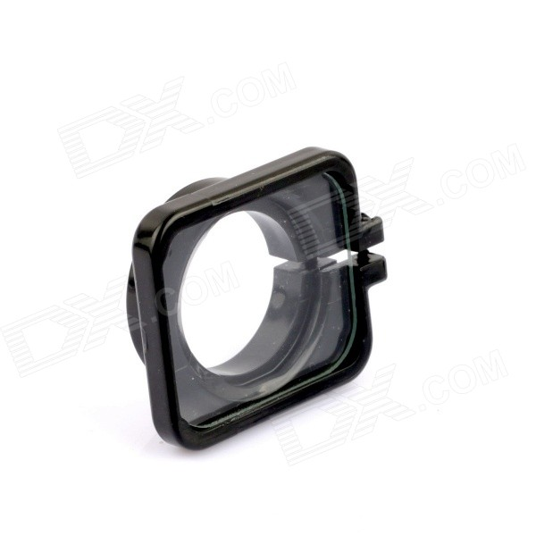 30mm Lens Protector Frame Ring Cover w/ PC Lens for Gopro Hero 3 / 3+ / 4 - Black three dimensional adjustable helmet side mount for gopro hero 3 3 2 1 black