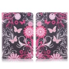 Hat-Prince Butterfly Pattern Flip Open Case w/ Stand for IPAD MINI 1 / 3 / RETINA IPAD MINI 2